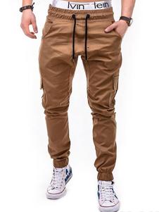 Hombre Pantalones Caqui 2020 con Bolsillo Cordón Ajustable Pantalones de Trotador Ajustado Track Pant
