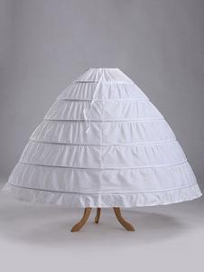 Crinolina da sposa con un solo strato di pizzo bianco