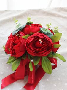 باقة أزهار عرس باللون الأحمر