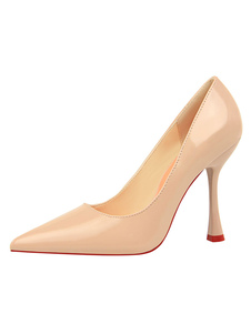 Nude Tacchi alti a punta Slip On Pumps Women Dress Shoes For Women