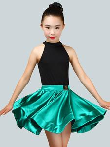 Девушки Латинский танцевальный костюм Дети без рукавов Верх и короткая юбка