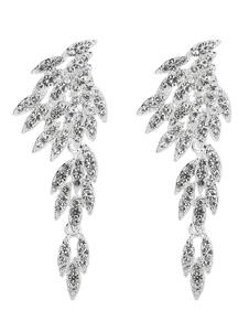 Серебряные серьги Свадебный лиф Rhinestone из бисера Свадебные украшения