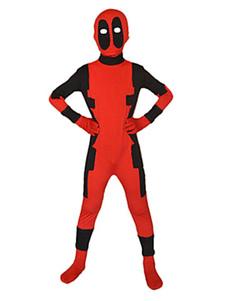Disfraz Carnaval Disfraz de Deadpool para niños Disfraz de Halloween para niños Cosplay suphero Spandex rojo Carnaval