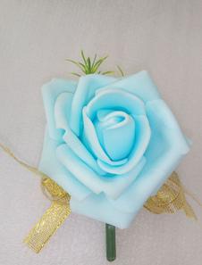 العريس العروة الزفاف الأزرق الاصطناعية بروم Beatonniere