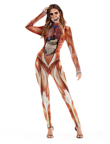 Disfraz Carnaval Traje de Halloween Traje en Titán Mujeres Trajes flacos de manga larga Carnaval