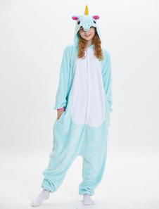 Disfraz Carnaval Pijama Unicornio 2020 Kigurumi Onesie Franela Verde Menta Monos Largos Adulto Unisex Animal Sleepwear Halloween Carnaval