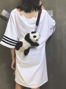 Черная сумка Lolita Cute Panda Design Кордуарная сумка Lolita