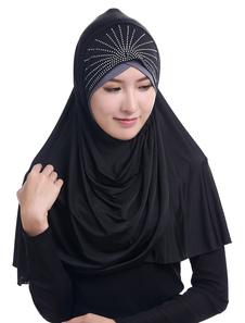 Sciarpa Hijab Strass Accessori per abbigliamento arabo Sciarpa di testa