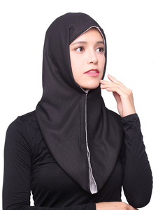 Mulheres Chiffon Hijab Reversível Cor Sólida Cocar Muçulmano Headscarf