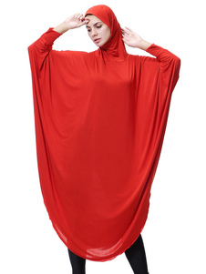 Mulheres Abaya Vestuário manga comprida cor sólida muçulmano vestido Abaya