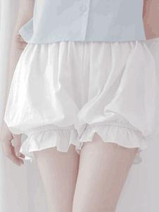 Classico Lolita Bottoms Ruffle di cotone pieghettato Lolita Bloomer