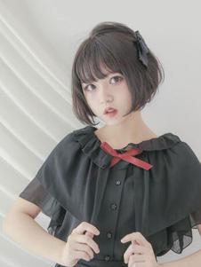 Lolita doce camisa plissado Blusa plissado Lolita camisa chiffon