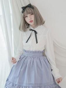 Классический Lolita Top шифон Ruffle Frill Lolita Shirt