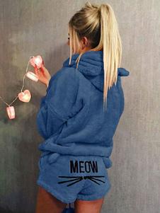 Кошачья пижама Onesie Teddy Bear Flannel Cat Ears Вышитые пижамы Loungewear