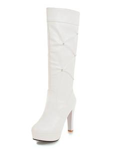 Botas de Salto Alto de Altura Joelho Botas Altas para Mulheres