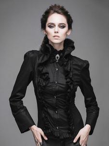 Costume Carnevale Top gotico Top con maniche lunghe in cotone e maniche lunghe in cotone