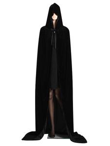 Capuz Capa Manto 2020 Costume De Halloween Veludo Bruxa Negra Sacerdote Princesa