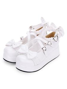 الحلو لوليتا أحذية القوس Strappy الإبزيم منصة بو الأحذية لوليتا