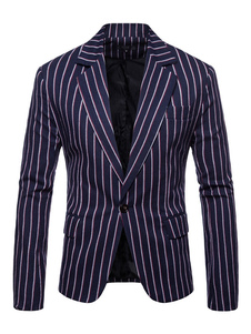 Blazer For Men Blazer colletto con intaglio a un bottone