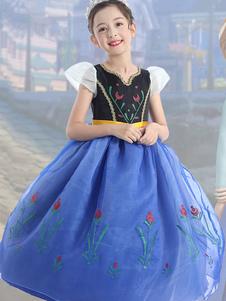 Costume Carnevale per Bambini Cosplay Disney Princess Serie Ice Romance Anna Princess High-end Dress Skirt Costume di Halloween Performance Costume Carnevale