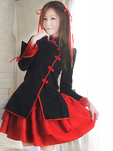 Costume Carnevale Halloween Costume giapponese Cosplay femminile Anime Qi Lolita Dress Set