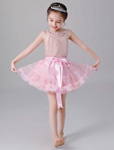 زهرة فتاة ثوب نسائي تنورة قصيرة تول مضيئة زلة لوليتا تحتية