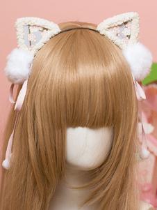 الحلو لوليتا الشعر المشبك بوم بوم القط الأذن لوليتا الشعر التبعي