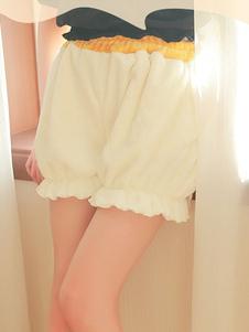 Sweet Lolita Shorts Flanella Ruffles Corgi White Lolita Bloomers