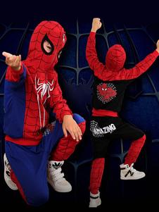 スパイダーマンの衣装ハロウィンキッズトップとズボンセット