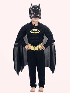 Бэтмен Костюм Хэллоуин Дети Черные комбинезоны 4 шт.