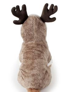 Костюм рождественской собаки Flannel Brown