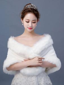 Искусственный мех украл свадебный платок Wrap Winter Bridal Cover Ups