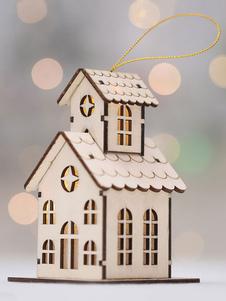 عيد الرعبزينة شجرة عيد الميلاد LED بيت الخشب شنقا قلادة عيد الميلاد الديكورات