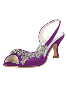 الأم من أحذية العروس بيربل تو زقزقة الراين أحذية خفيفة أحذية الزفاف هريرة كعب حذاء الزفاف2020