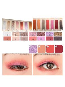 Set de sombras de ojos de mujeres multicolor brillante paleta de sombra de ojos sedoso