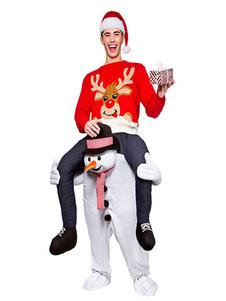 Carry Me Snowman Costume Halloween Christmas Piggyback Unisex Adults Flannel Funny Oktoberfest Ride On Костюмы Хэллоуин