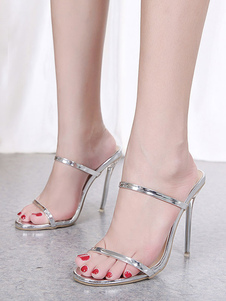 Sandálias de salto alto mulheres abertas toe sandália de salto alto sandálias chinelos