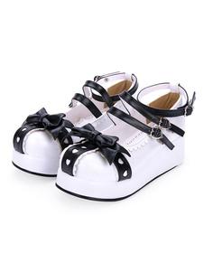 Dolci lolita décolleté dell'innamorato dell'arco dell'innamorato delle scarpe di Lolita della piattaforma a due toni del pattino