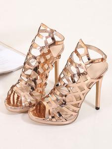Mujer Viejo Hqcsrdt Disfraces De Tacon Moda Sandalias Boda Zapatos Oro qzVGLUMSp