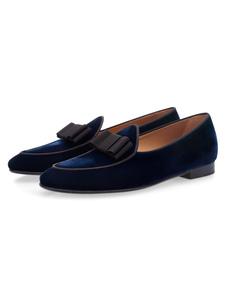 رجال حزب أحذية المخملية جولة اصبع القدم القوس الانزلاق على المتسكعون ديب بلو أحذية حفلة موسيقية2020