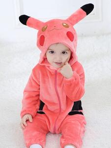 Pikachu Kigurumi Pajamas Toddler Onesie Kids Flannel Комбинезоны Хэллоуин