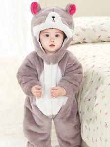 Серая кошачья пижама Kigurumi Onesie Toddlers Flannel Комбинезон для детей Хэллоуин