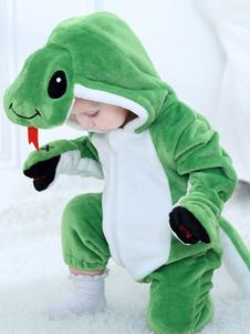Snake Kigurumi Onesie Pajamas Малыш Flannel Green Kids Зимний комбинезон Хэллоуин