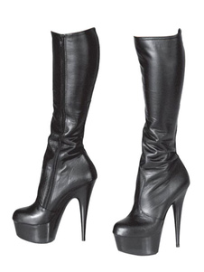 Botas altas hasta la rodilla negras Plataforma para mujeres Botas sexy de tacón alto