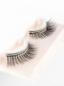 Donne Ciglia finte Pelliccia di coniglio Natural Long Eye Lashes