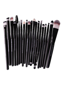 Kits de pinceles de maquillaje negro Kits de pinceles de maquillaje profesional de mujeres