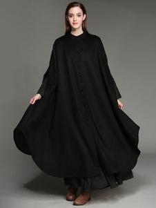 معطف طويل الاكمام بطول 3 طبقات من معطف طويل الاكمام للنساء