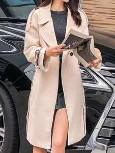 Cappotto invernale in lana con bottoni in lana