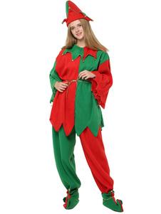 Roupa de fantasia de Natal Elf 4 peça para mulheres Halloween