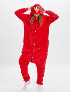 Disfraz Carnaval Kigurumi Pijamas de Elmo 2020 Onesie Disfraces de Sesame Street Rojo Unisexo Monos de Franela de Adulto Halloween Carnaval